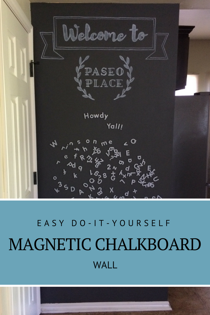 Do-it-yourself magnetic chalkboard