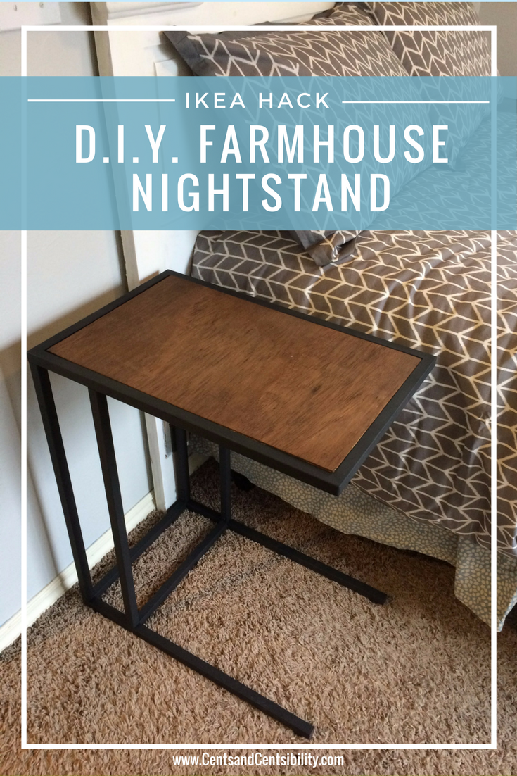 Ikea Table Hack Industrial Farmhouse Nightstand